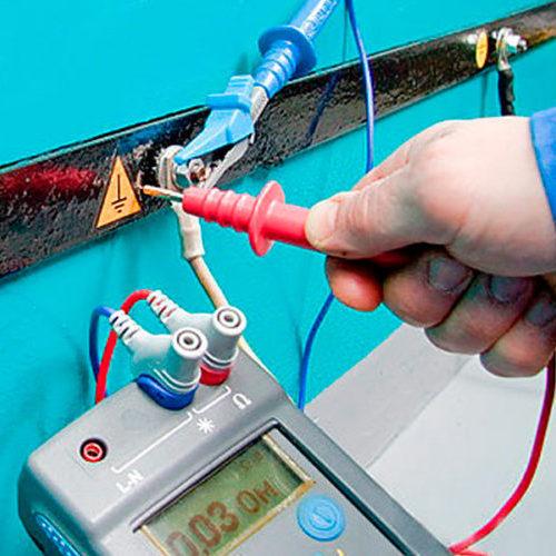 Измерение переходного сопротивления между заземлителем и заземляемым устройством